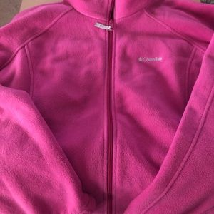 Columbia zip up fleece jacket